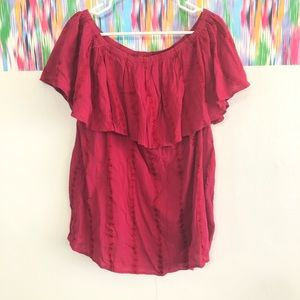 🦋 3/$15 Style & Co. pink layered blouse -1X